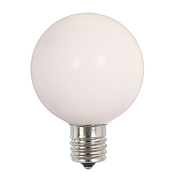 10 Incandescent G50 Globe White Retrofit C7 Socket Replacement Bulbs