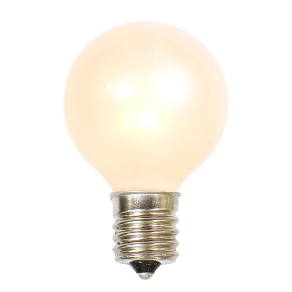 10 Incandescent G50 Globe White Retrofit C9 Socket Replacement Bulbs