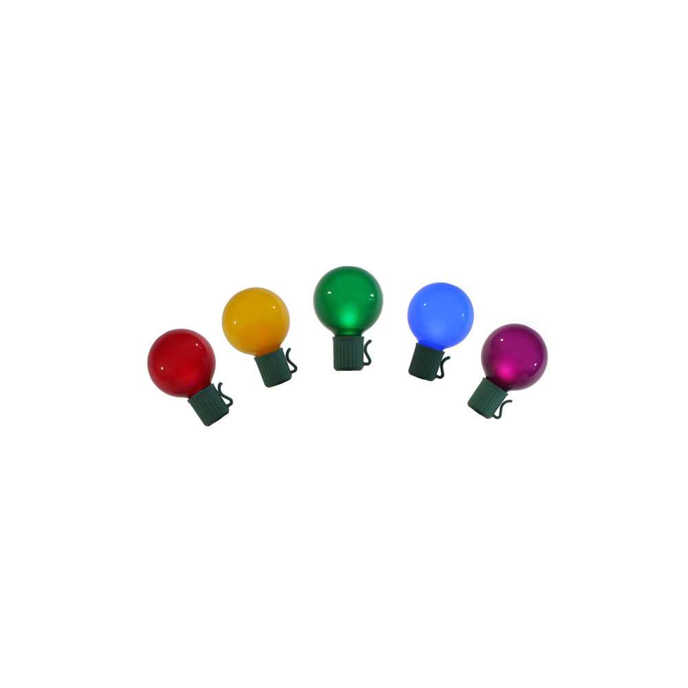 15 Incandescent G50 Globe Satin Multi Color C7 Socket String Light Set Green Wire