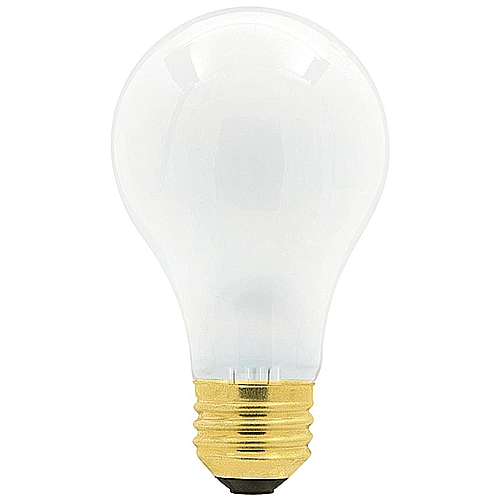 25 Incandescent A19 White Ceramic Replacement Light Bulbs - 25 Watts
