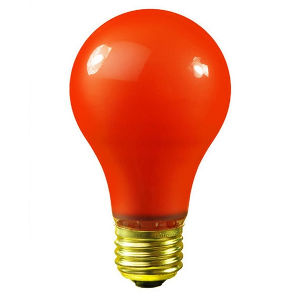25 Incandescent A19 Orange Ceramic Replacement Light Bulbs - 25 Watts