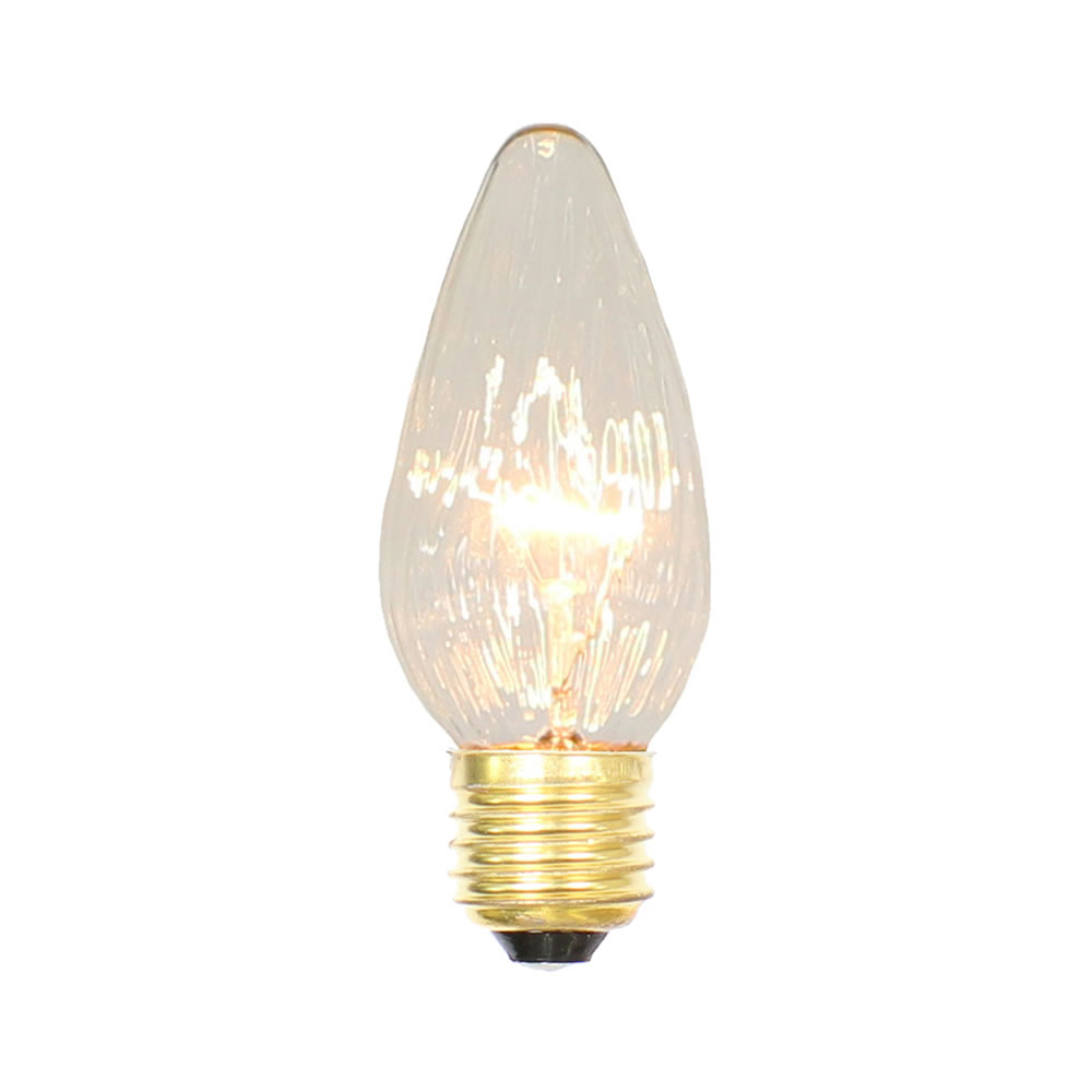 25 Incandescent F15 Clear Flame Retrofit Replacement Bulb - 25 Watt Medium/E26 Base