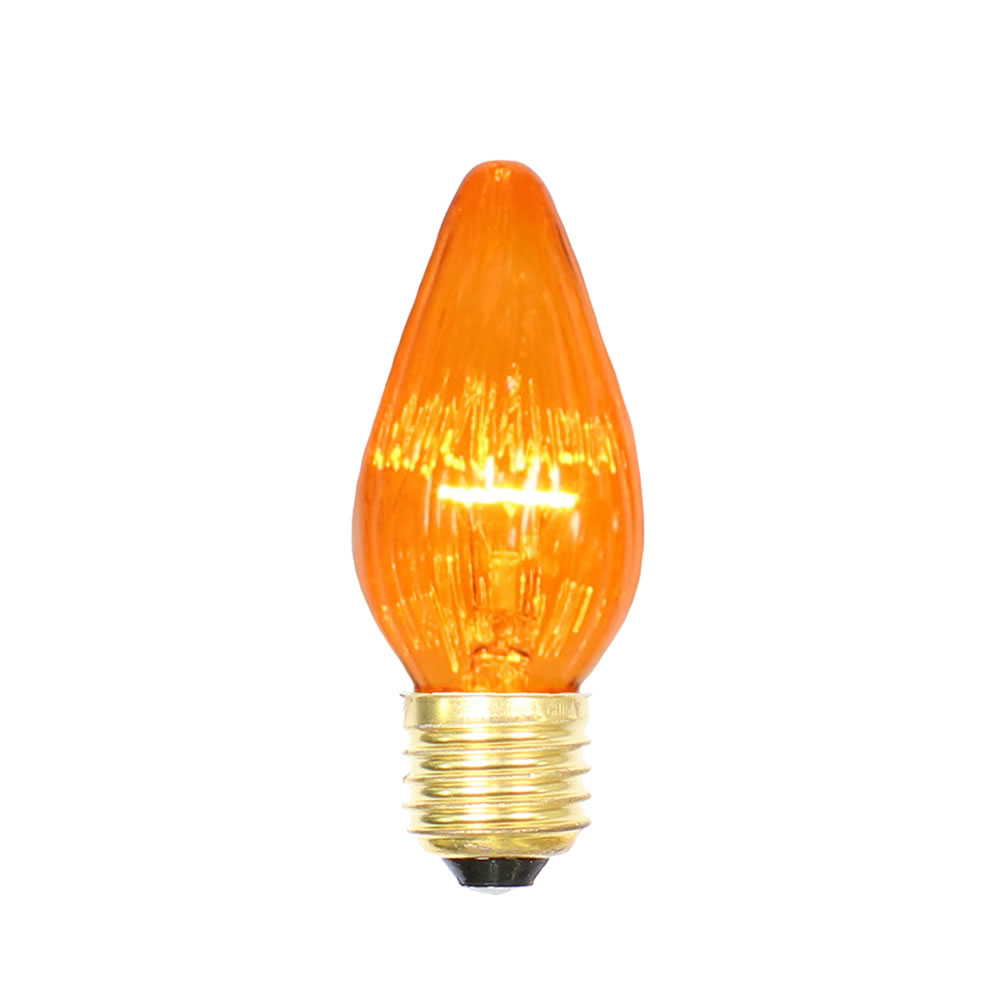 25 Incandescent F15 Amber Flame Retrofit Replacement Bulb - 40 Watt Medium/E26 Base