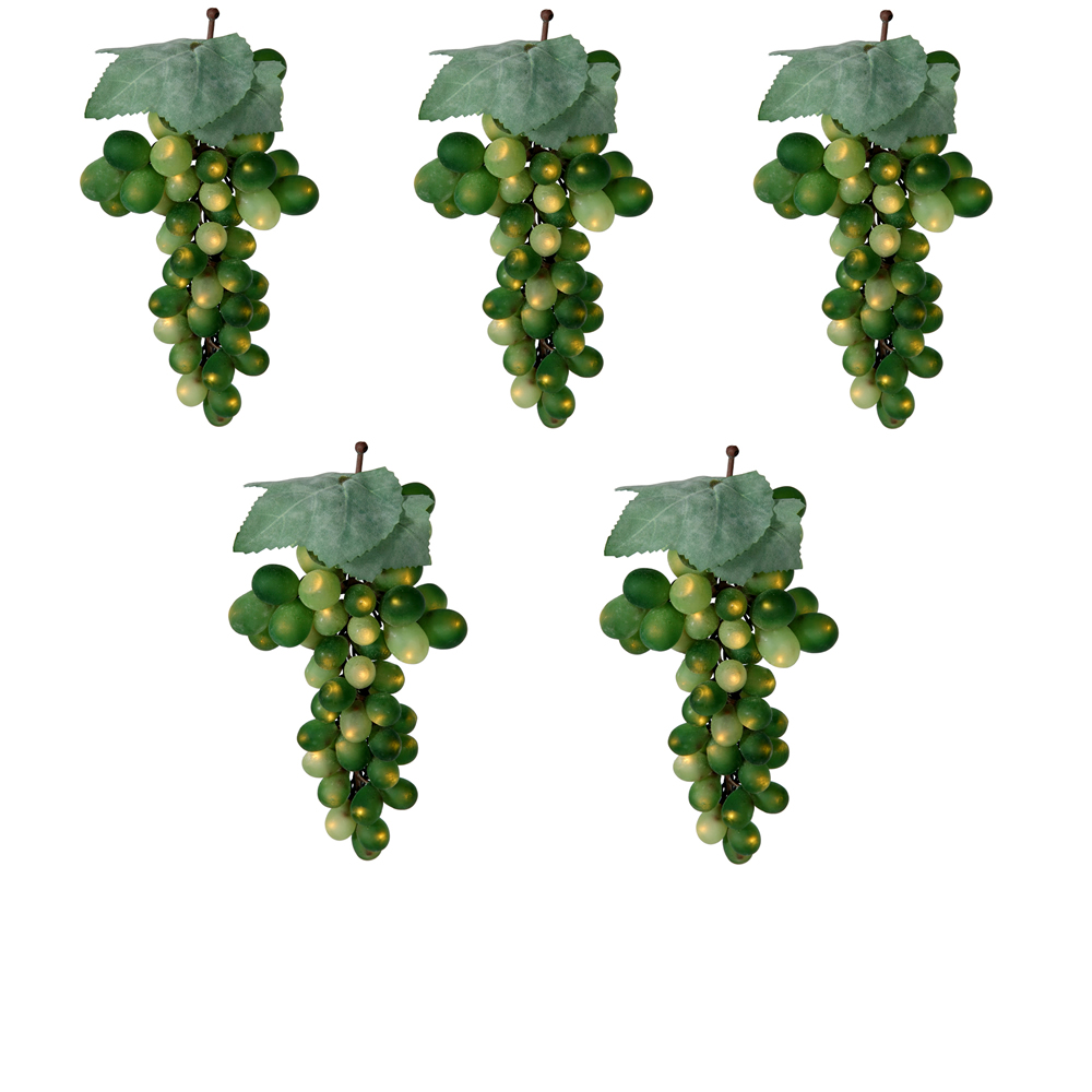 Green Grape Cluster 100 Incandescent Mini String Light Set