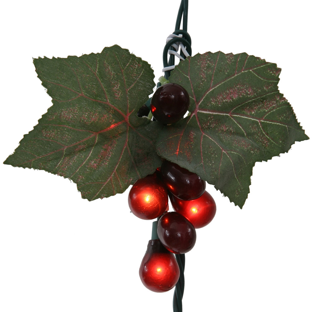 Red Grape Cluster 35 Incandescent Mini String Light Set