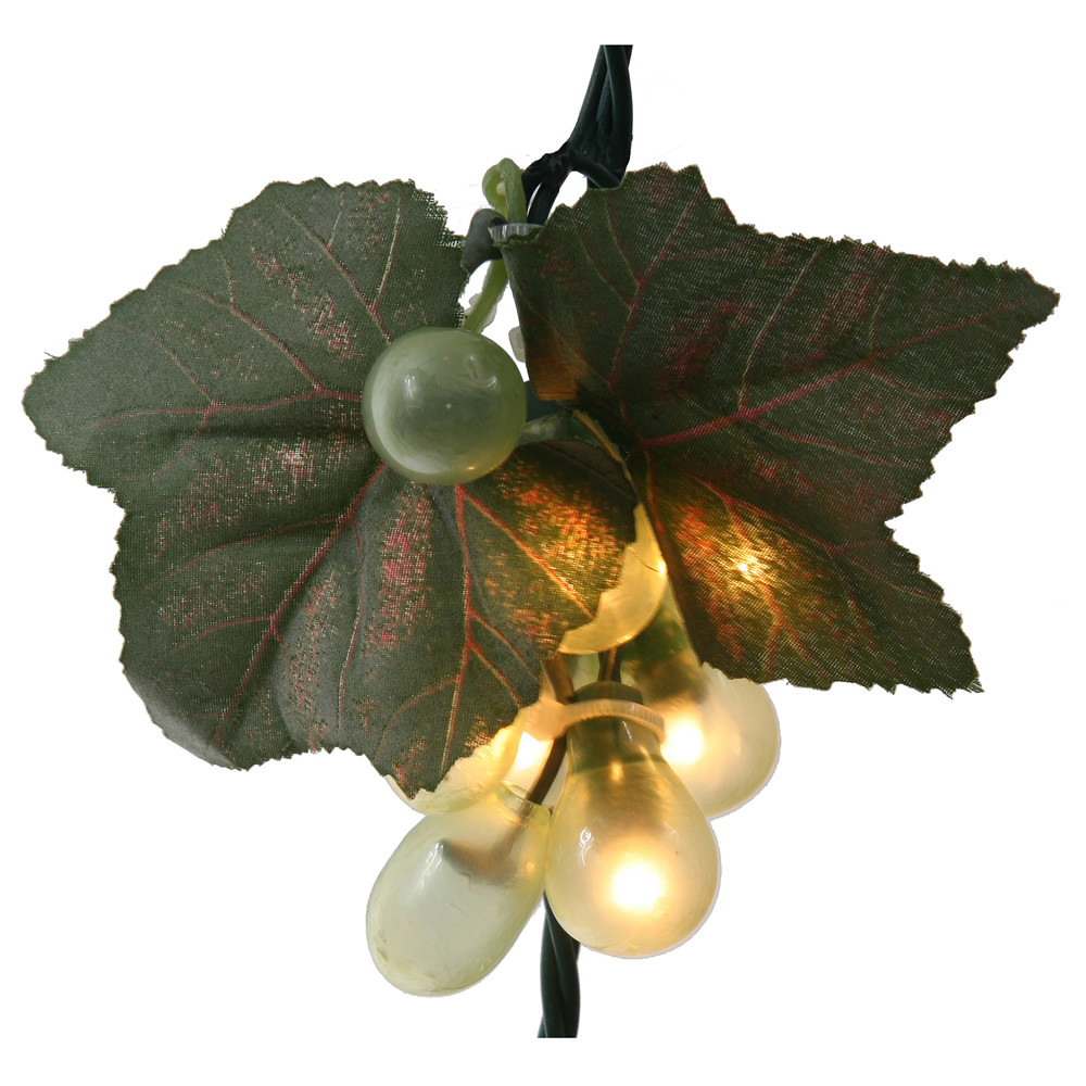 Green Grape Cluster 35 Incandescent Mini String Light Set