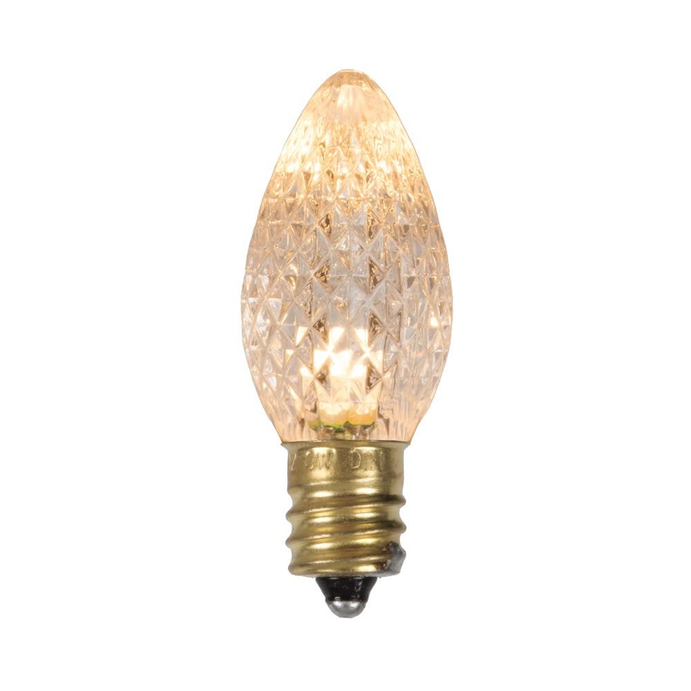 25 LED C7 Sun Warm White Faceted Retrofit Night Light String Replacement Bulbs