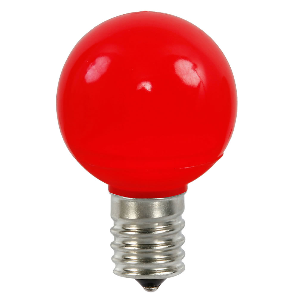 25 LED G50 Globe Red Ceramic Retrofit C9 Socket Replacement Bulbs