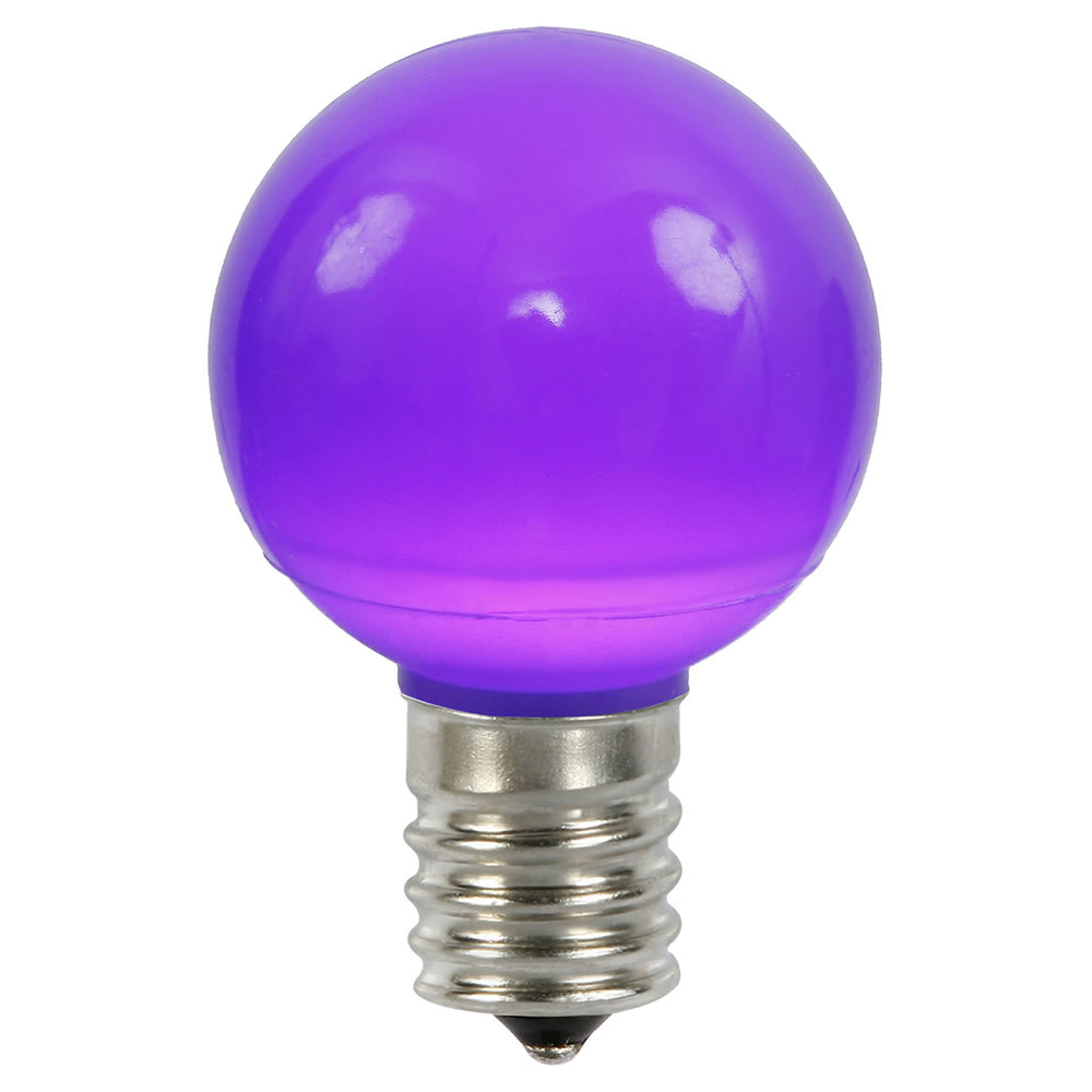 25 LED G50 Globe Purple Ceramic Retrofit C9 Socket Replacement Bulbs