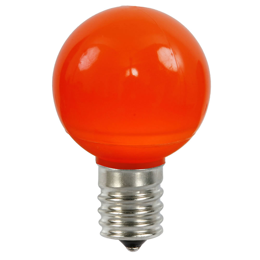 25 LED G50 Globe Orange Ceramic Retrofit C9 Socket Replacement Bulbs