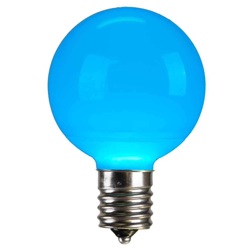 25 LED G50 Globe Teal Ceramic Retrofit C9 Socket Replacement Bulbs