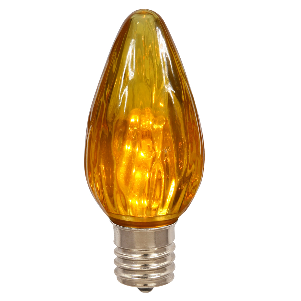 25 LED F125 Amber Flame Retrofit E26 Socket Replacement Bulbs