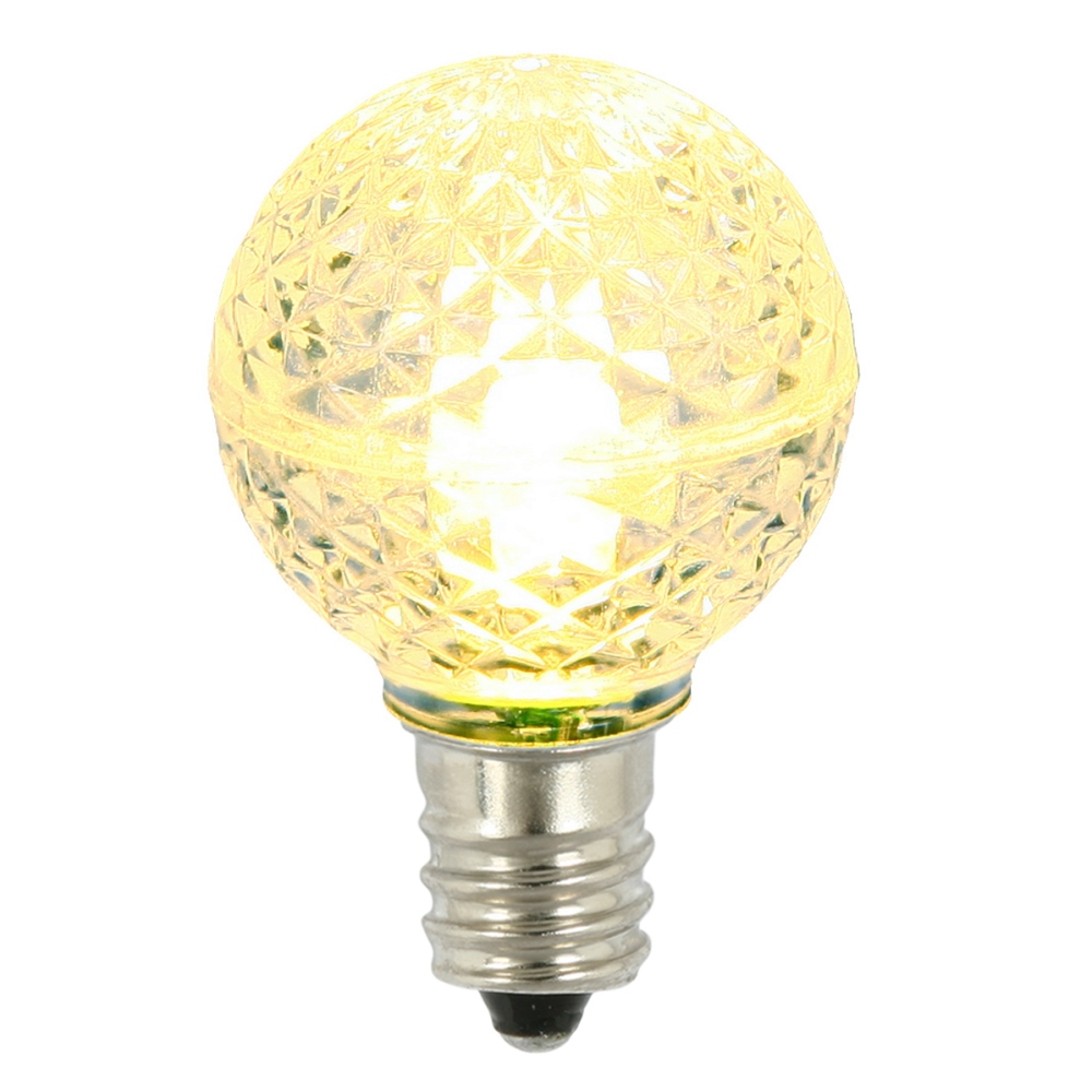 25 LED G30 Globe Warm White Faceted Retrofit Night Light C7 Socket Replacement Bulbs