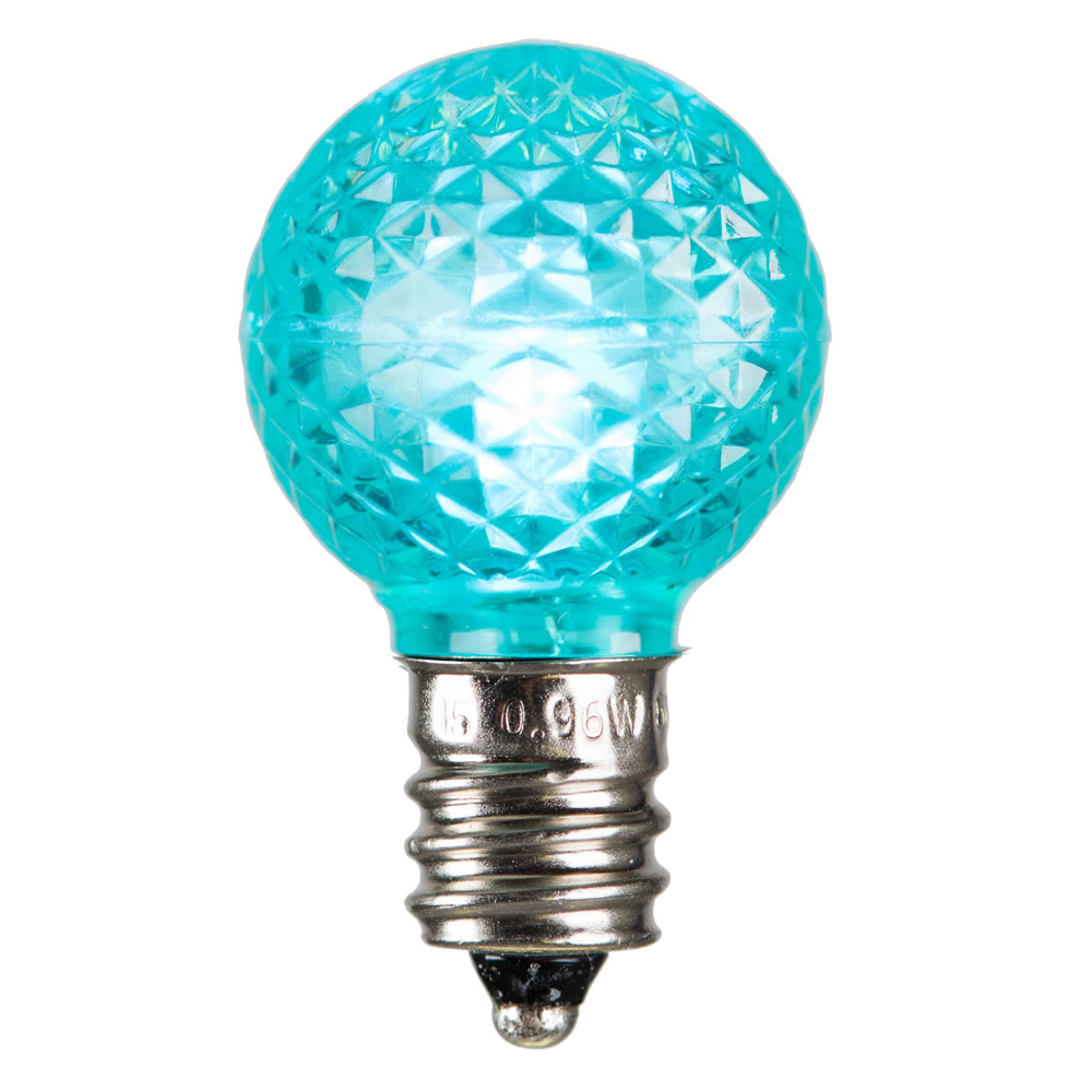 25 LED G30 Globe Teal Faceted Retrofit Night Light C7 Socket Replacement Bulbs