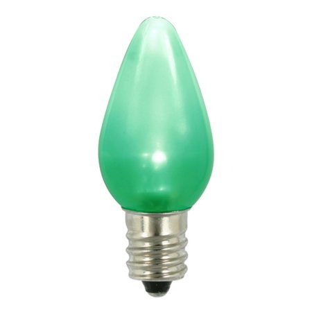 25 LED C7 Green Ceramic Twinkle String Night Light Retrofit String Replacement Bulbs