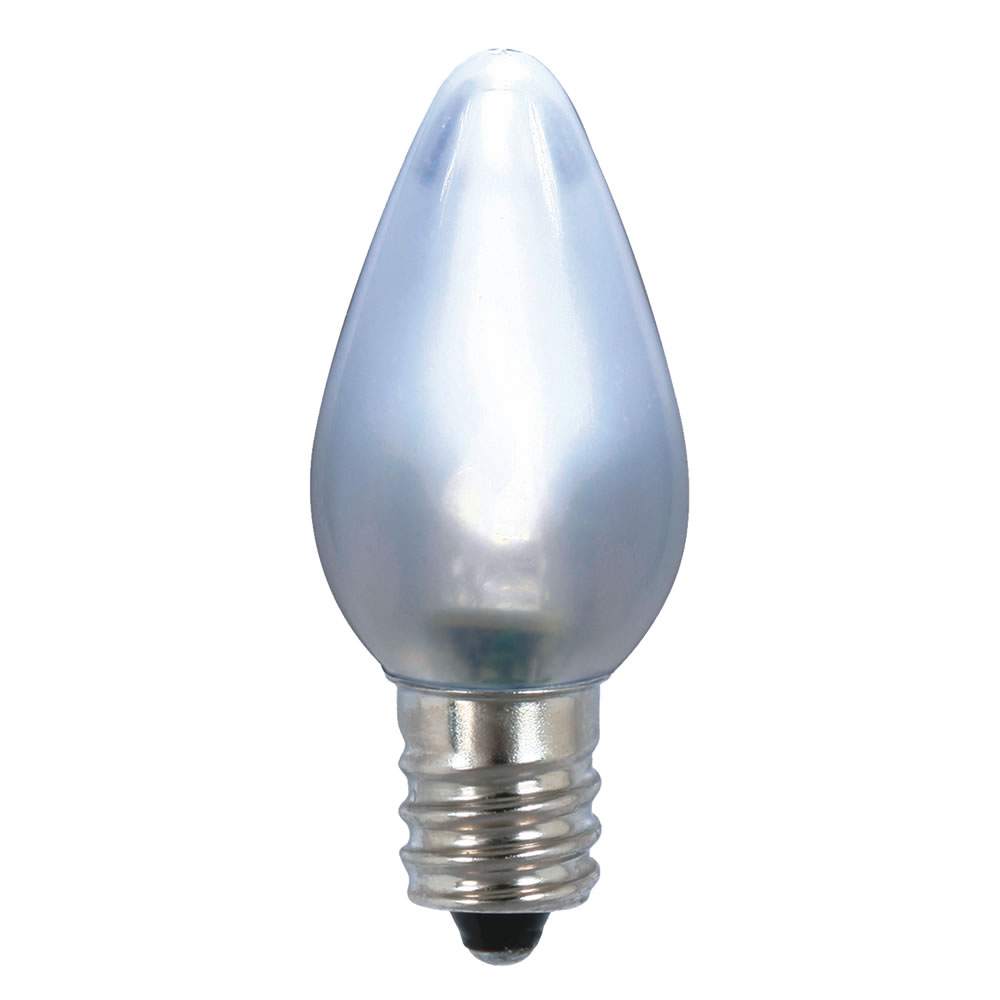 25 LED C7 Cool White Ceramic Retrofit String Night Light Replacement Bulbs