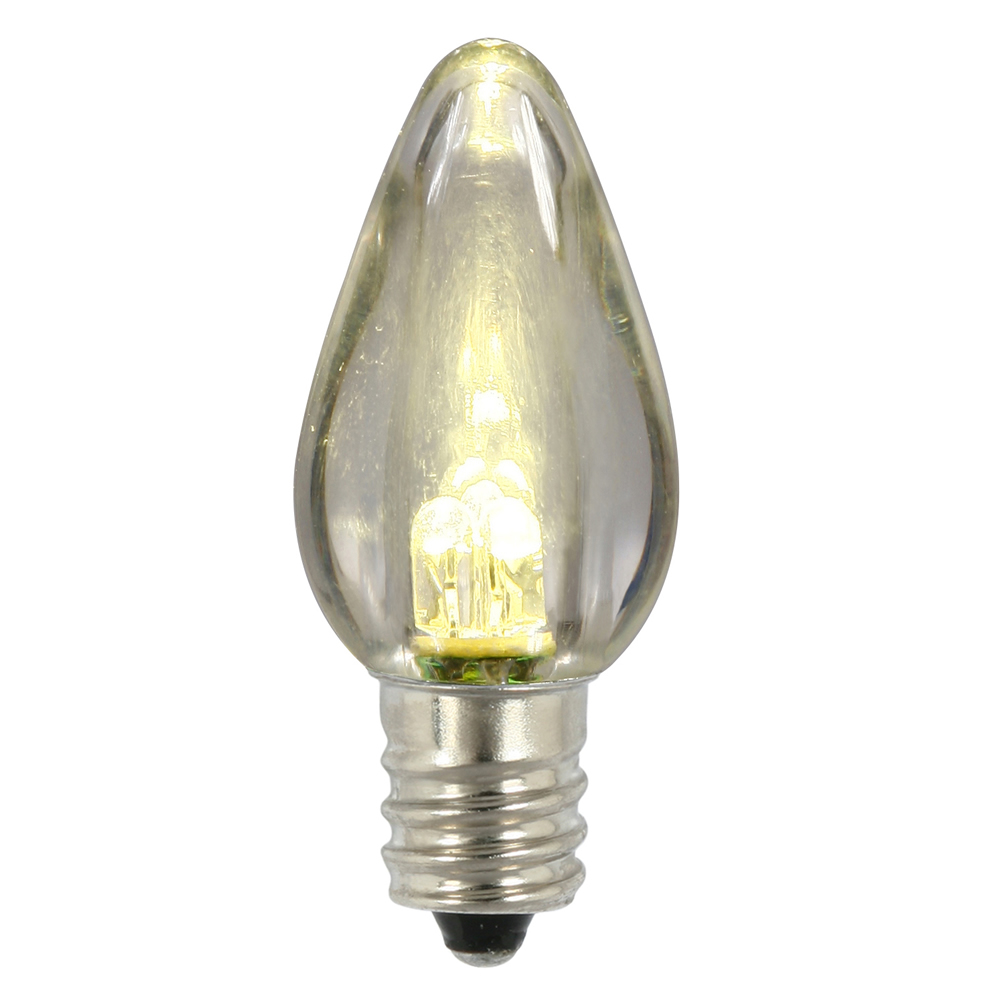 25 LED C7 Warm White Transparent Night Light Retrofit String Replacement Bulbs