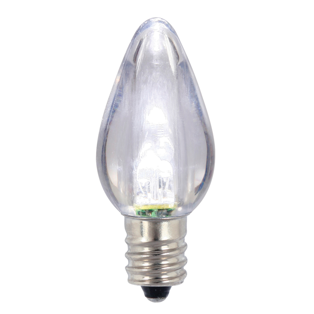 25 LED C7 Cool White Transparent Night Light Retrofit String Replacement Bulbs