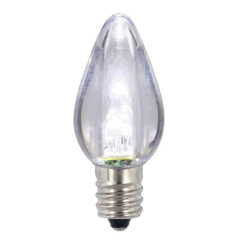 25 LED C7 Pure White Transparent Night Light Retrofit String Replacement Bulbs