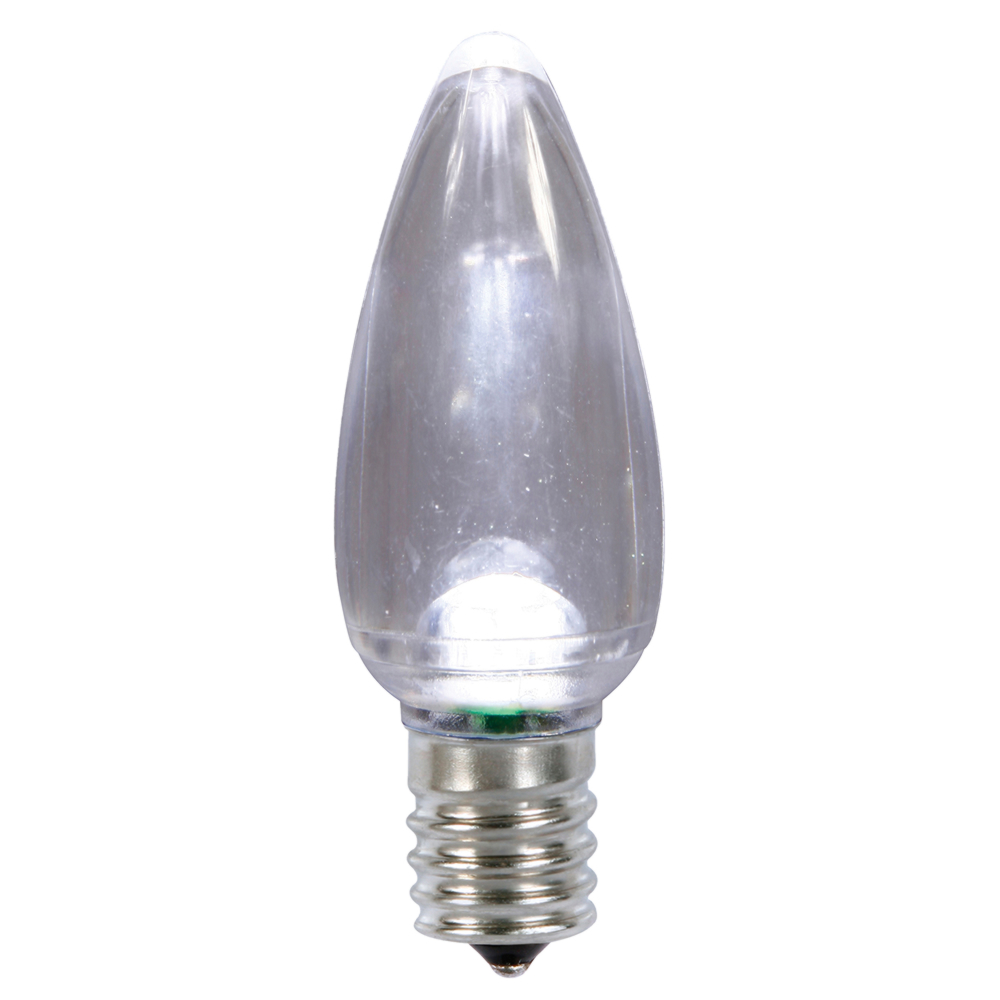 25 LED C9 Cool White Transparent Retrofit C9 E17 Socket String Light Replacement Bulbs