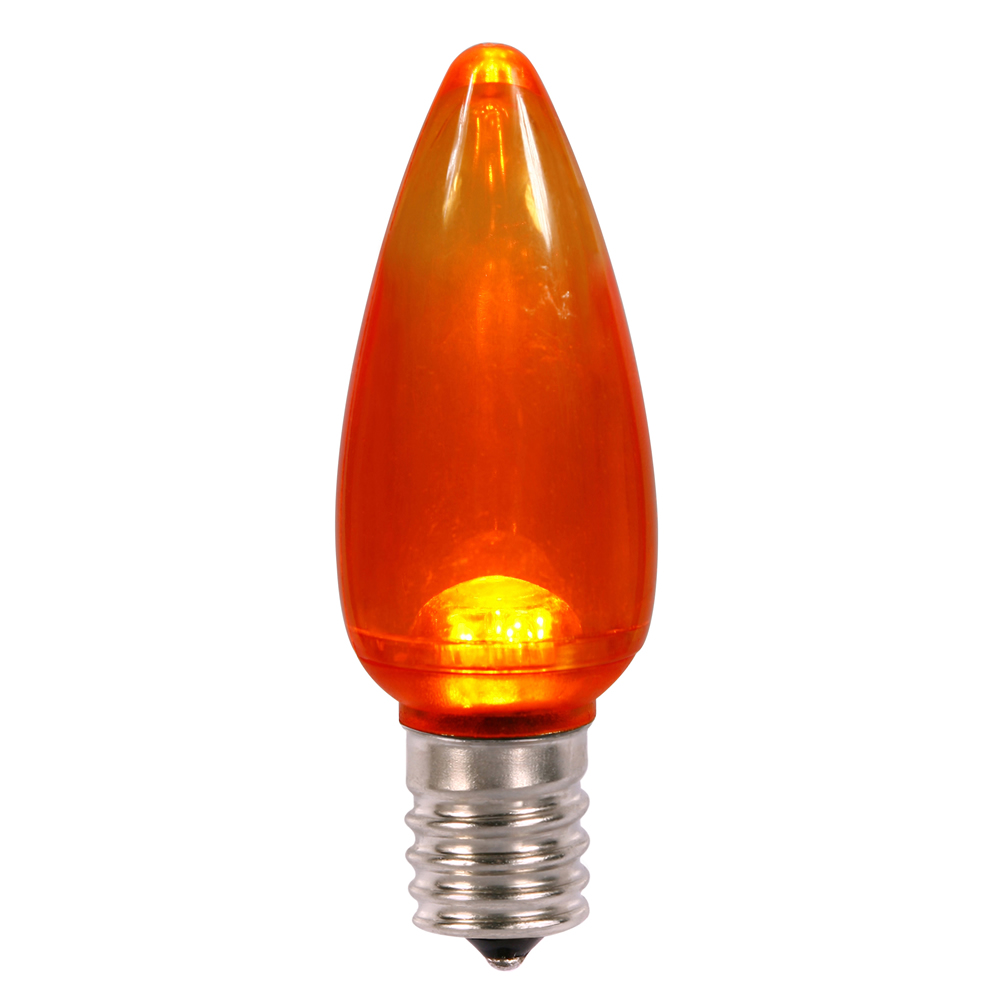 25 LED C9 Orange Transparent Retrofit C9 E17 Socket Halloween String Light Replacement Bulbs
