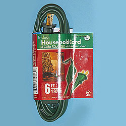 6 Foot Indoor Extension Cord Green Wire Box of 10