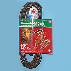 12 Foot Indoor Extension Cord Brown Wire Box of 10