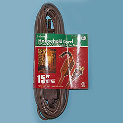 15 Foot Indoor Extension Cord Brown Wire Box of 10