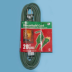 20 Foot Indoor Extension Cord Green Wire Box of 10