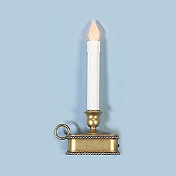 9 Inch LED Battery Operated Candle Antique Gold Base With Sensor Box of 12