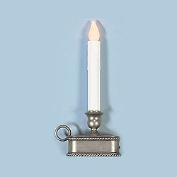 9 Inch Battery Operated LED Candle Antique Silver Base Box of 12