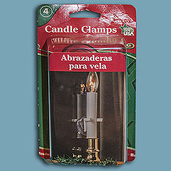 Window Candle Clamp With Suction Cups Box of 48