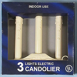 Ivory 3 Light Electric Candle Clear Lights Box of 6