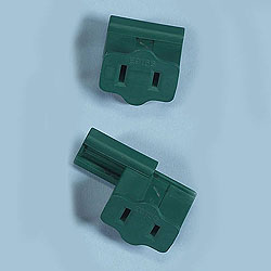 25 Green Female Plugs Wire