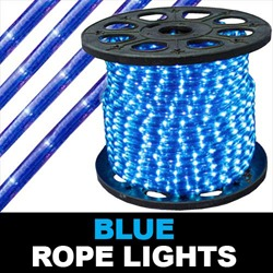164 Foot Super Brite Chasing Blue Rope Lights