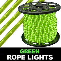164 Foot Super Brite Chasing Green Rope Lights