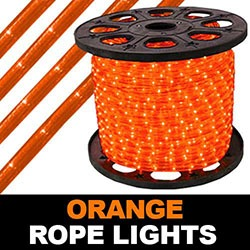 164 Foot Super Brite Chasing Orange Rope Lights
