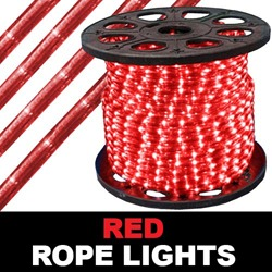 198 Foot Chasing Red Rope Lights Two Channel 4 Foot Increments