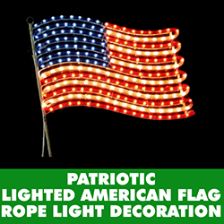 American Flag Rope Light Decoration