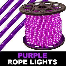 150 Foot Purple Rope Lights 2 Foot Increments