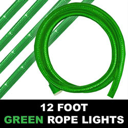 Green Rope Lights 12 Foot