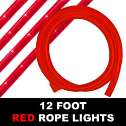 Red Rope Lights 12 Foot