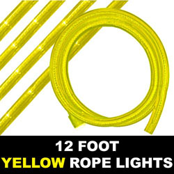 Yellow Rope Lights 12 Foot