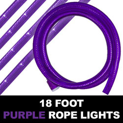 Purple Rope Lights 18 Foot