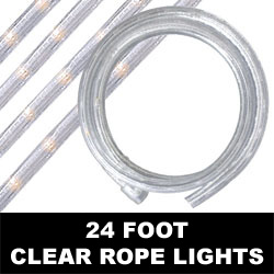 Clear Rope Lights 24 Foot