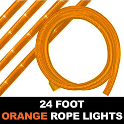 Orange Rope Lights 24 Foot