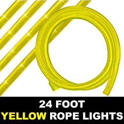 Yellow Rope Lights 24 Foot
