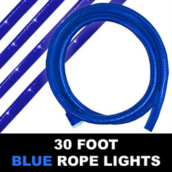 Blue Rope Lights 30 Foot