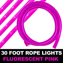 Fluorescent Pink Rope Lights 30 Foot