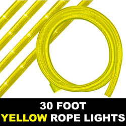 Yellow Rope Lights 30 Foot